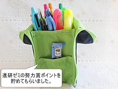 進研ゼミ努力賞ペンケース